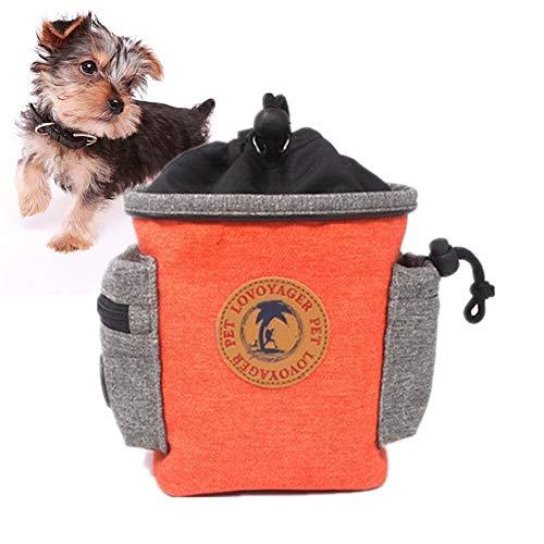 jingxiaopu Bolso Merienda Perro Bolsa Premios Perro Bolsa De Cintura Mascota Perro Resistente Al Agua Bolso Perro PequeñO CinturóN Ajustable For Perro De Entrenamiento Orange