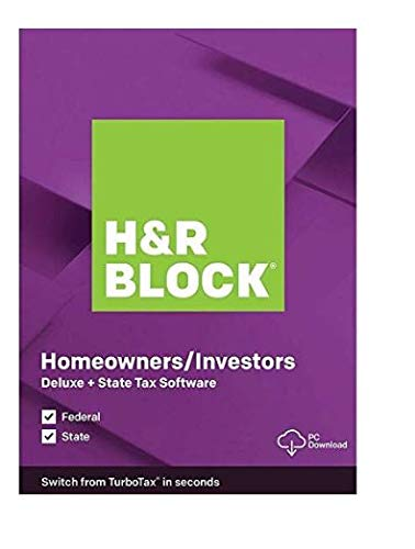 H&R Block Tax Software Deluxe + State 2019_Deduction_Stocks, Bonds, and Mutual Funds| 5 Fed E-File + State + Activation Key| [PC/MAC D0WNL0ADABLE: NO DISC]