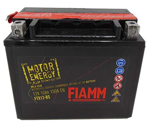 BATTERIA MOTO FIAMM FTX12-BS 12V 10Ah CON LIQUIDO (CORRISP. YUASA = YTX12-BS)