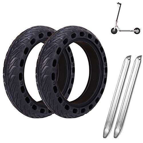 MINICoo Reifen Felge, Frei Ersatz Solide Felge Ersatzreifen mit 2 Felgenheber, für Xiaomi M365 Elektro-Scooter Gummi Solid Tyre Reifen Ersatzräder