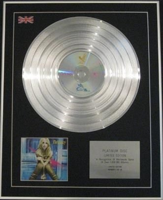 Britney Spears – Ltd Edtn CD Platinum Disc – Britney