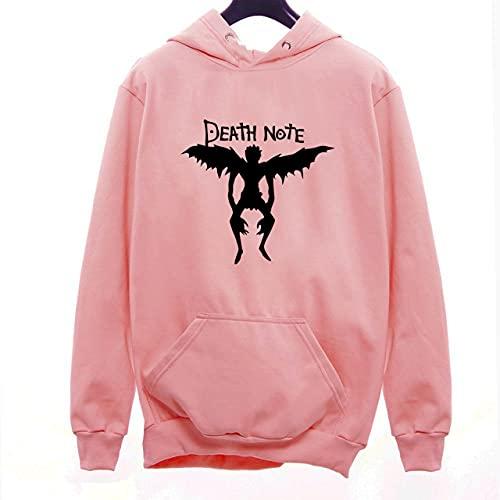 Moletom Canguru Casaco Unissex Death Note Personagem Anime Livro Geek (Rosa, M)