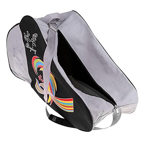 F Fityle Inline Roller Pattinaggio Scarpe Pattini di Stoccaggio Borsa Porta Marsupio Custodia per Casco Gomito/Ginocchio/Polsino Guard Pad - Nero