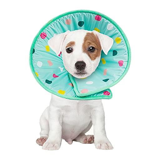 Tecatty Colliers pour Animaux de Compagnie pour la récupération après la Chirurgie, cicatrisation des plaies Anti-Morsure/Fuite pour Chiens et Chats (L)