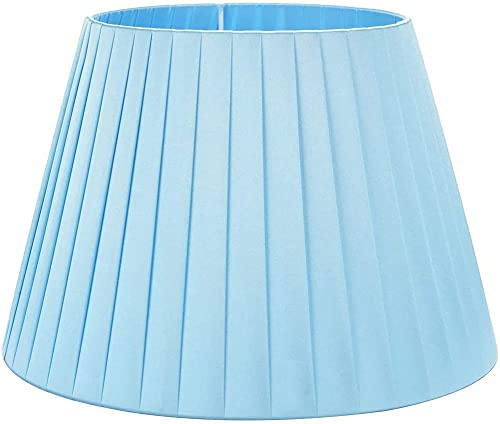 ZGYZ Pantalla de lámpara Simple de Color sólido,Cortinas de Tela Azul de Seda Tradicionales y clásicas utilizadas en la Base para lámparas de pie de lámpara de Pared de lámpara de Mesa