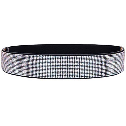ALAIX Women's Belt Stretchy Dress Belts Sparkle Bling Rhinestone Shiny Party Belt Fashion Elastic Waist Belt for women Colorful