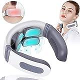 Nackenmassagegerät, Intelligentes Schulter Massagegerät mit 4 Massageplatte, Neck Massager, Elektrisch Shiatsu Massagegeräte für Nacken mit Wärmefunktion, Muskel Schmerzlinderung für Haus, Büro