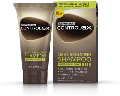 Just for men Control GX, Grey Reducing 2-in-1 Shampoo & Conditioner for Grey Hair – All Shades, 147 ml