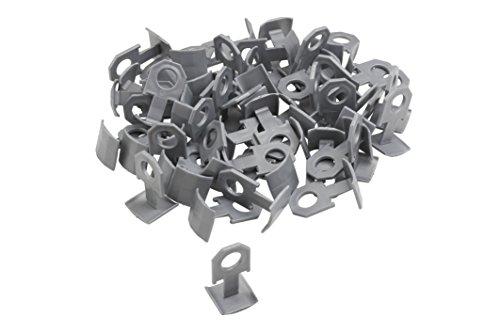 Meister Ersatzclips für Nivelliersystem, 100 Stück - Fliesendicke 7-15 mm / Fliesen-Nivellierhilfe mit Zuglasche / Verlegehilfe mit Keilen / 4423500