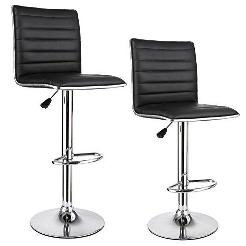 "Homfa 2 Stk. Barhocker Barstühle ""klassig"" Design drehbar höhenverstellbar Belastbar bis 160kg schwarz 2er Set."