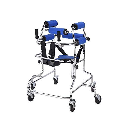 LHY-Rollator Steh-GEH-Ständer/Gehhilfe/Gehhilfe/Ständerrahmen mit Sitzrad-Rehabilitationsgerät Behinderten-Skid-Ständer Kinder-Ständerrahmen
