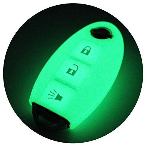 Schlüssel Hülle NB für 3 Tasten Auto Schlüssel Silikon Cover von Finest-Folia (Nachtleuchtend)