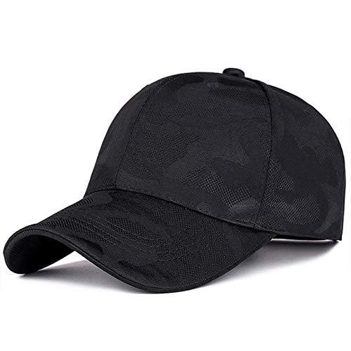 UKKD Gorra de Beisbol Moda Unisex Informal Sombrero De Camuflaje Camuflaje Ajustable del Casquillo del Sombrero Gorra De Mujeres De Los Hombres del Desierto,Negro,Un Tamaño