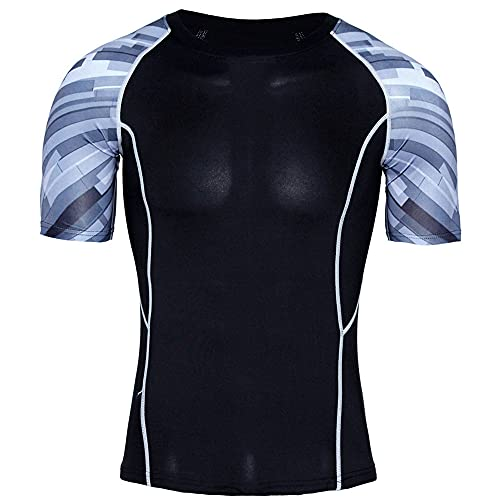 XPDD Unisex 3D Cartoon Print Work Out Compression Muscle T-Shirt Sport Shirts Men Cool Dry Running Tops Gym Tops Men Sport Dry Fit Tee Shirt Tshirt T-Shirt Short Sleeve Tennis Golf Bowling Tops