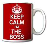 GrassVillageTM - Tazza vintage con scritta'Keep Calm and Carry on I'm the BOSS'