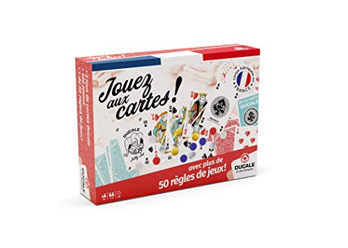 Ducale, le jeu français - Coffret 50 Règles De Jeux - 2x54 Cartes, 100 jetons, livret de 50 règles de Jeux - à Jouer en Famille ou Entre Amis