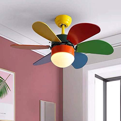 MJK Candelabros Luces de techo, luz de ventilador Luz de ventilador de techo Habitación de niños Lámpara de comedor Dormitorio creativo Ventilador eléctrico simple Candelabro, buena transmisión de lu