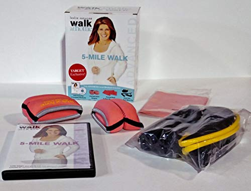 Leslie Sansone Walk At Home 5 Mile Walk Advanced Level Workout DVD (with Firming Band, 2-lb Soft Hand Weights, Walk Belt)