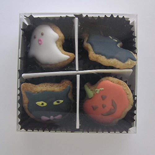 ハロウィン アイシングクッキー (おばけ コウモリ 黒猫 カボチャ)