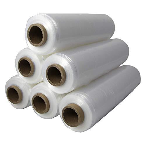 SebaPack Stretchfolie transparent 430mm x 600m Wickelfolie vorgedehnt I 1 Rolle Palettenfolie Handstretchfolie Verpackungsfolie Verpackungsmaterial