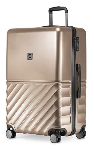 HAUPTSTADTKOFFER - Boxi - Hartschalen-Koffer Koffer Trolley Rollkoffer Reisekoffer 4 Rollen, TSA, 75 cm, 108 Liter, Gold