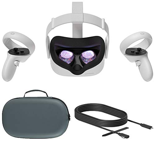 2020 Oculus Quest 2 All-In-One VR Headset 256GB Christmas Holiday Family Bundle, Advanced Vitual...