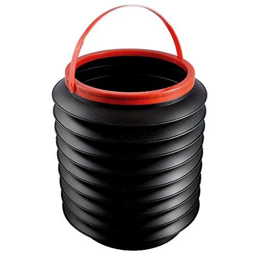 TOOGOO(R) Organizador bota envase cubo de agua 4L plegable plastico negro