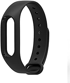 TECHONTO Replacement Strap for Xiaomi Mi Band 2 (Device not Included, Black)