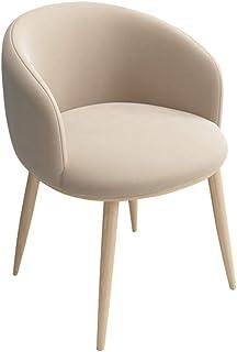 ZCXBHD Sillas Comedor Suave Terciopelo Asiento con Respaldo en Forma U Patas Metal Sillas Sillones Vendimia Cocina por Comedor Salón sillas Oficina recepción (Color : Beige)