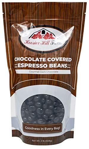 Hill Farm Gourmet Dark Chocolate covered Espresso Beans (2 lb Bag), 32 Ounce from Hoosier Hill Farm LLC
