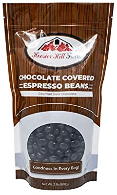 Hill Farm Gourmet Dark Chocolate covered Espresso Beans (2 lb Bag), 32 Ounce