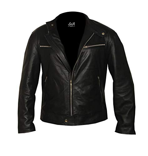 SNA Collection Vin Diesel Furious 7 - Chaqueta de cuero para hombre