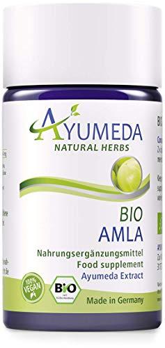 Ayumeda BIO Amla Extrakt | Phyllanthus emblica | Amalaki | Indische Stachelbeere | 176,4 mg Tannine/Tagesdosis | Geprüfte Qualität | Made in Germany | 60 Kapseln für 1 Monat | 100% BIO | 100% Vegan