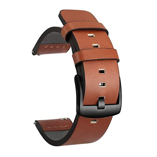 TWWSA Exquisito Correa de Banda de Reloj de Cuero de 20 mm 22mm for Samsung Galaxy Watch 3 41mm 45mm Active2 40 44mm Reloj de Reloj Relojes rápidos 18mm 24mm para reemplazar