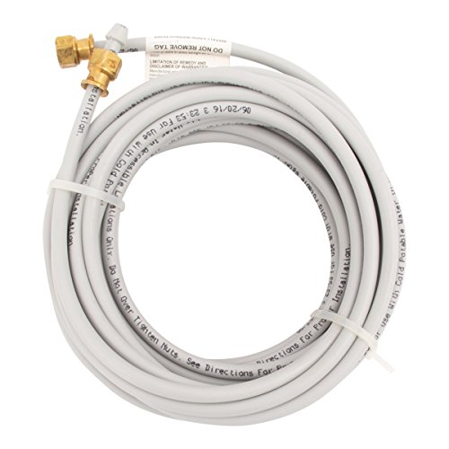 PEX Ice Maker Installation Kit 25 Feet of Tubing for Appliance Water Lines with Stop Tee, 1/4
