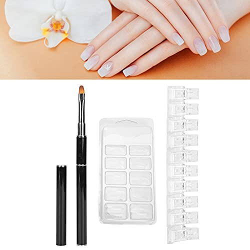 Pinzas para pellizcar uñas, 10 pinzas para uñas, puntas para decoración de uñas, pincel para decoración de uñas, fácil de usar para manicura y manicura