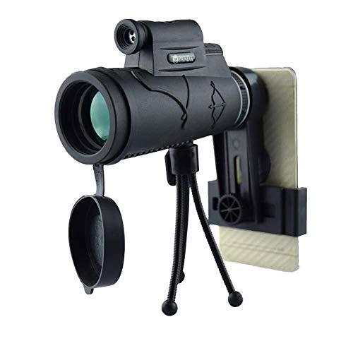 LG Snow Telescopio monocular de alta potencia, 50X Negro al aire libre que va de excursión Bird Watching monocular óptico de alta definición de actualización con el Día de la linterna y la visión noct