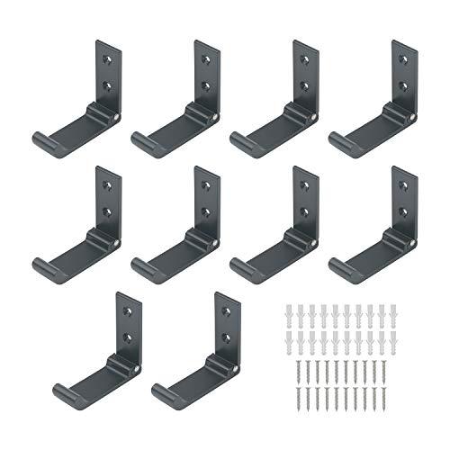 Pxyelec 10 ganci pieghevoli da parete in lega di alluminio singoli appendiabiti appendiabiti pieghevole da parete per cucina, bagno, camera da letto, soggiorno, porta armadio a parete