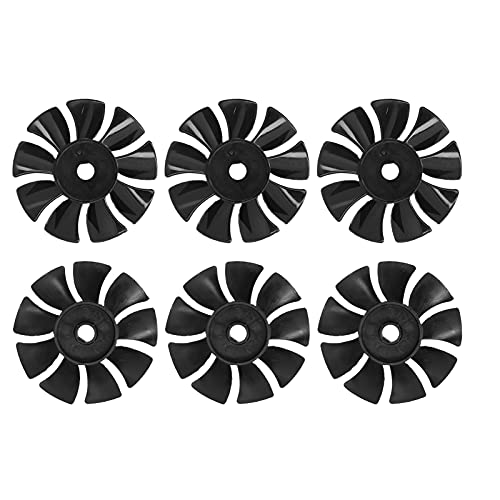 6pcs Motor Blades ABS Low Noise Direct‑on‑Line Cooling Fan Air Compressor Pump Parts Replacement Accessories