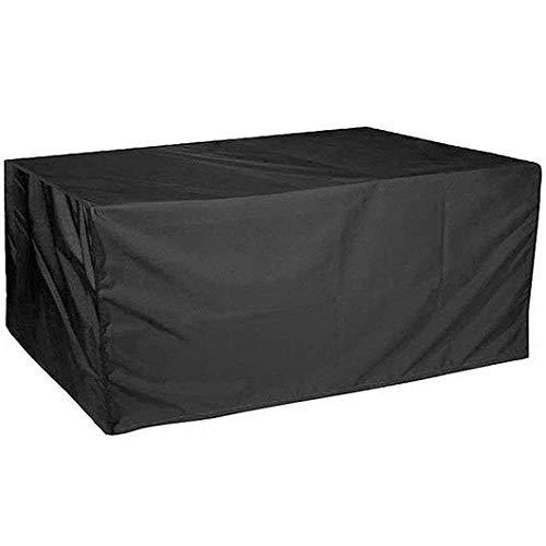 CTTAO Conjuntos de Muebles 150x150x75cm Resistente al Desgarro Anti Viento/UV, Cubierta de Muebles Rectangular, para Muebles de Jardín, Patio, Mesa Sillas Sofás, Negro