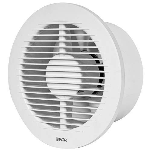 Ø 150 mm badkamerventilator met vochtsensor en timer - wit, stille ventilator