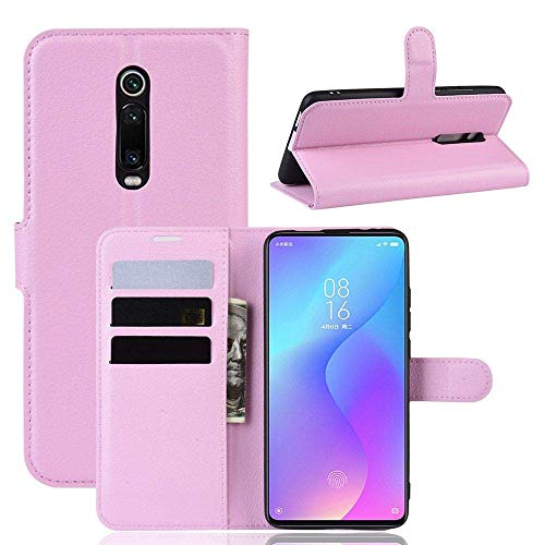 Capa Capinha Carteira 360 Para Xiaomi Mi 9T e Redmi K20 e K20 Pro De Tela 6.39Polegadas Case Couro Flip Wallet Danet (Rosa)