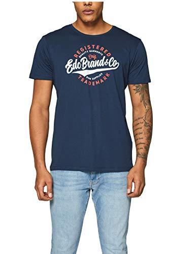 edc by ESPRIT Herren 999CC2K803 T-Shirt, Blau (Navy 400), X-Large (Herstellergröße: XL)