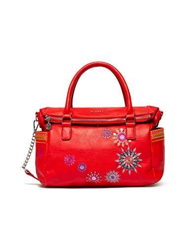 Desigual Bols_Ada Loverty - Bolso de mano para mujer, color rojo