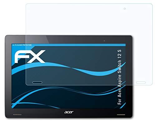 atFolix Schutzfolie kompatibel mit Acer Aspire Switch 12 S Folie, ultraklare FX Bildschirmschutzfolie (2X)