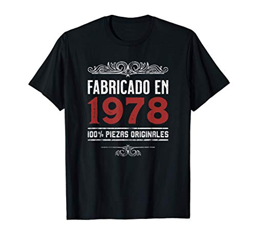 Hombre Fabricado En 1978 100% Piezas Originales Cumpleaños Camiseta