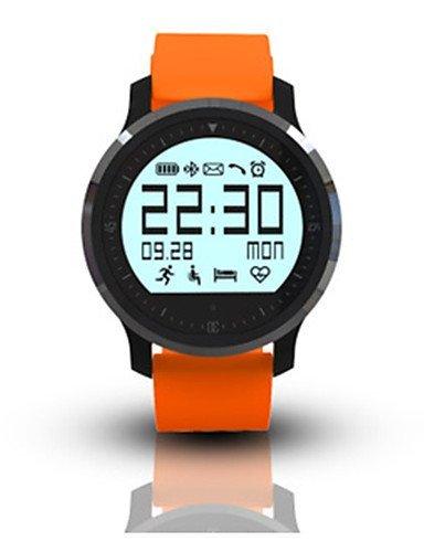Bluetooth 4.0 Amun-re Smartwatch (llamadas manos libres, recordatorio de mensajería instantánea, podomette, alarma antirrobo, alarma), naranja