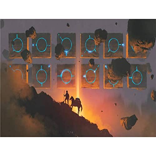 Paint by Numbers Kits Man and Horse Walking up a Mountain Against Mysterious Rocks stockDIY Oil Painting for Beginner Canvas Painting Fine Art Art for Home Art Wall with Framed- 20X16 in