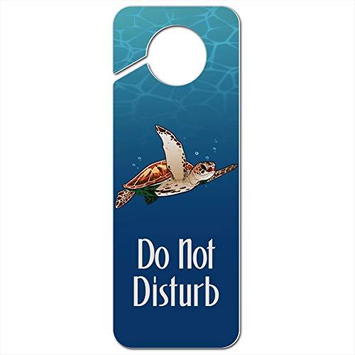 GRAPHICS & MORE Sea Turtle Swimming in Ocean Plastic Door Knob Hanger Sign