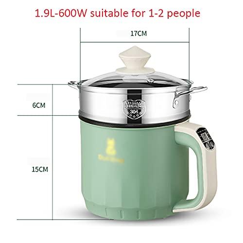 Olla arrocera (1.9L) Rice Cooker multifuncional todo en uno para el hogar/sartén/wok/olla de sopa, alimentos y verduras saludables al vapor (Color : B)